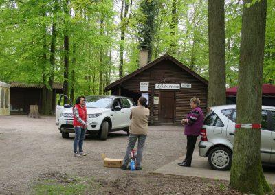1.Mai Waldfest 2016 bei der Lutz-Sigelhütte-Aufbau