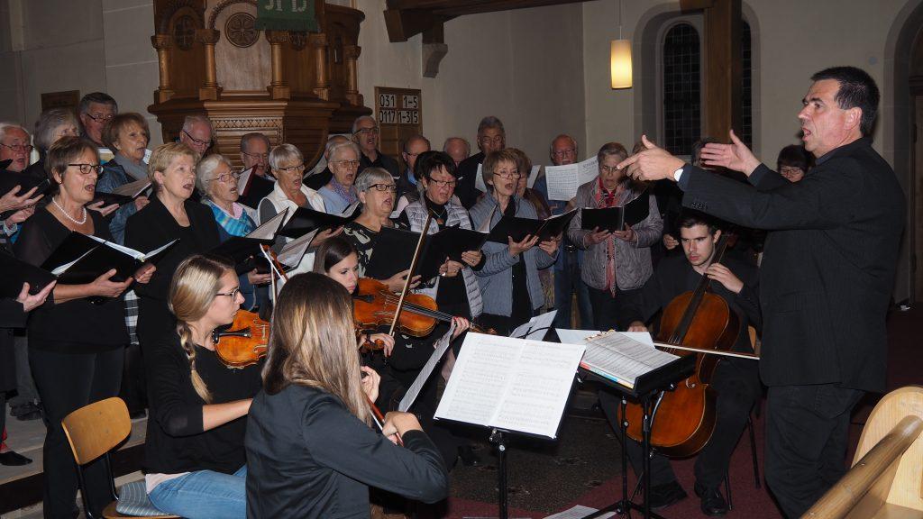 Kirchenkonzert am 4. November 2017 - Liederkranz - Hauptprobe