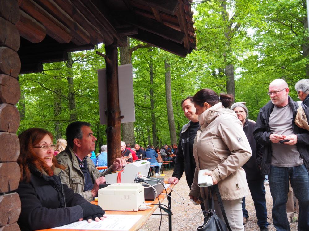 1.Mai Waldfest 2018 - die Kassierer