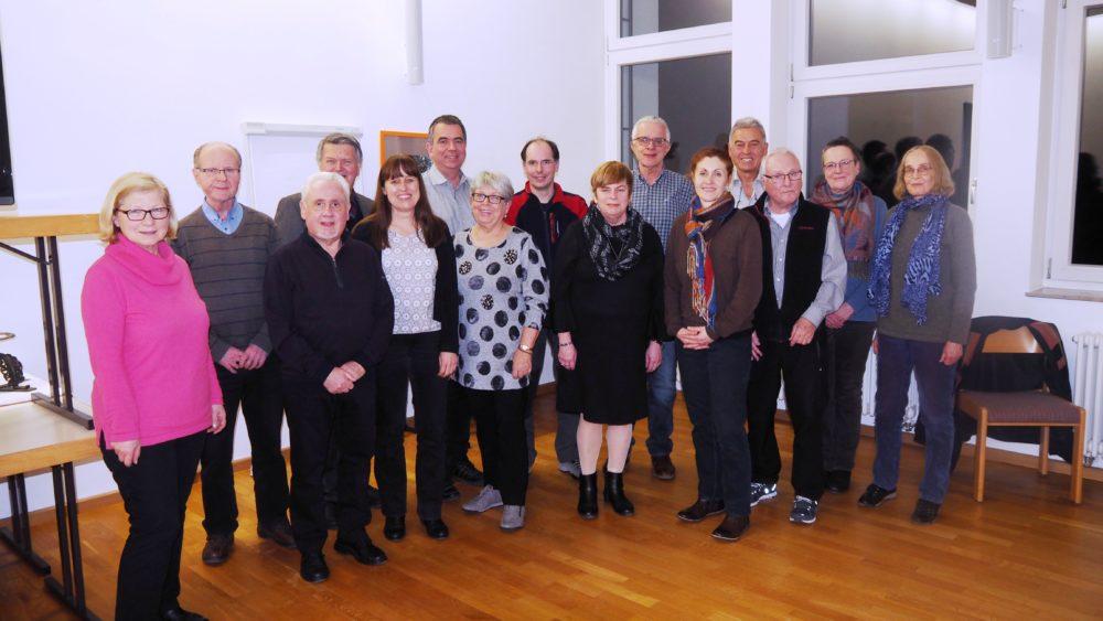 Jahreshauptversammlung am 8.2.2019 Vorstand mit Ausschuss